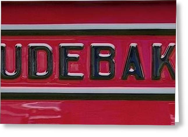 Collector Hood Ornament Greeting Cards - 1947 Studebaker Tailgate  Greeting Card by Brooke Roby