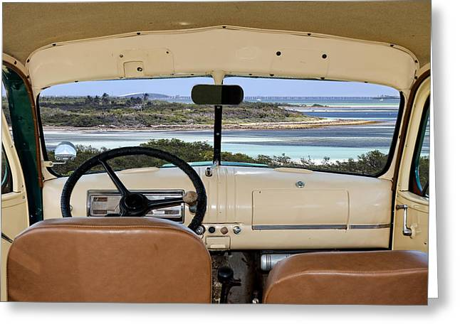 Steering Greeting Cards - 1947 Suburban Greeting Card by Rudy Umans