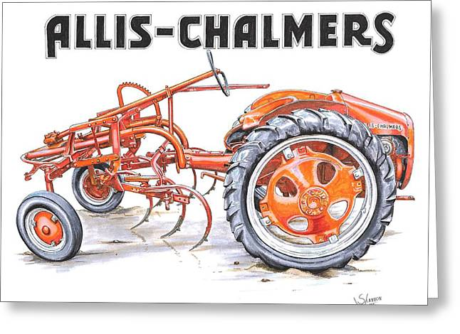 Chalmers Greeting Cards - 1948 Allis Chalmers-G Greeting Card by Shannon Watts