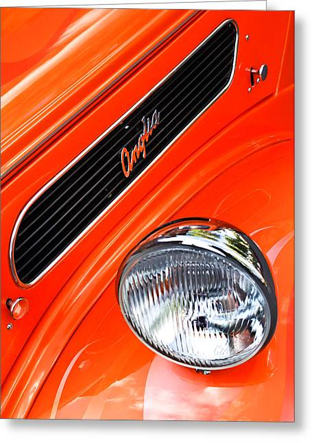 1948 Anglia 2-door Sedan Grille Emblem Greeting Card by Jill Reger