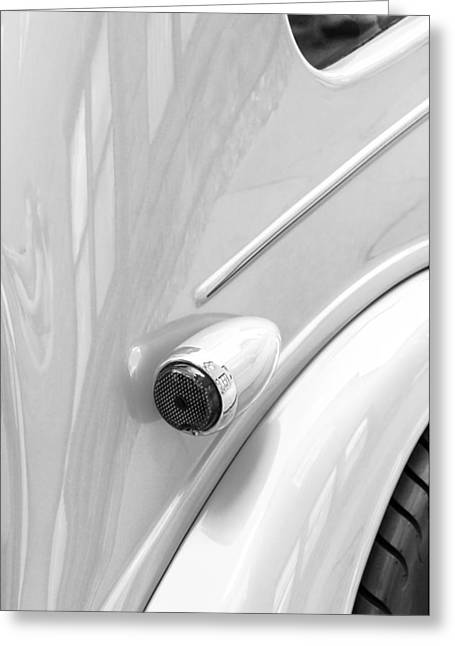 1948 Anglia Taillight -447bw Greeting Card by Jill Reger