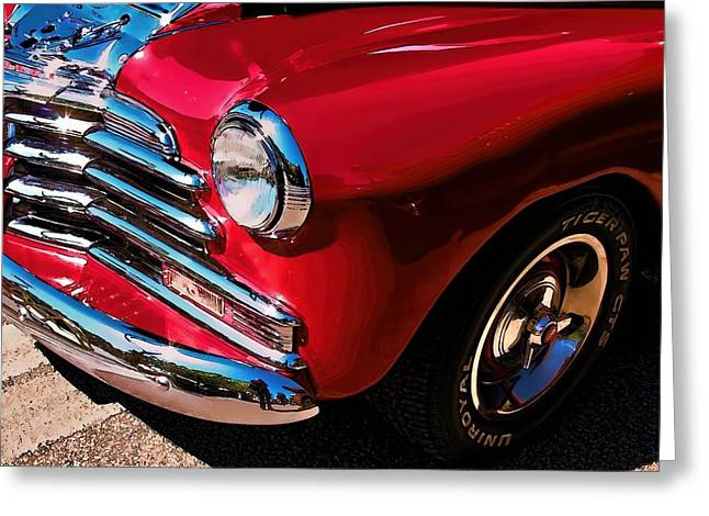 Chevrolet Greeting Cards - 1948 Chevy 2100 FK Fleetmaster Greeting Card by Lesa Fine