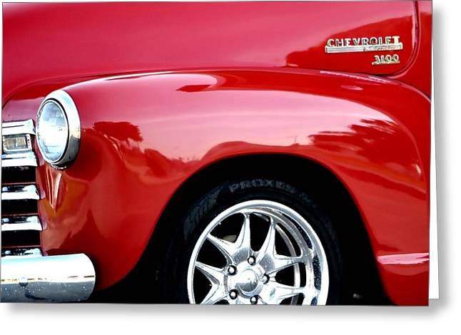 Drive In Style Greeting Cards - 1948 Chevy Thriftmaster 3100 Greeting Card by Deena Stoddard