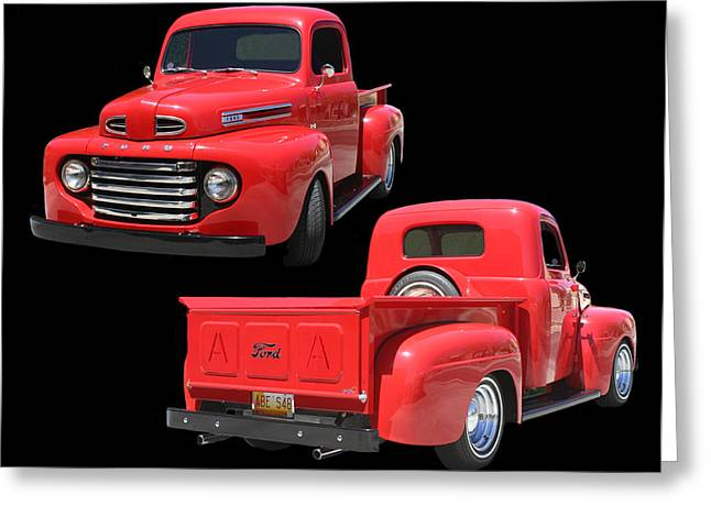 Framed Photos Greeting Cards - 1948 Custom Ford F-100 Pick Up Greeting Card by Jack Pumphrey