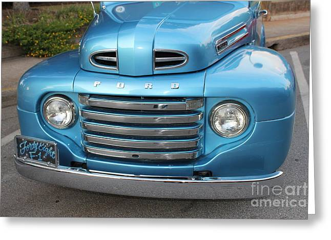Express Greeting Cards - 1948 F 1 Series Ford Pickup Truck Greeting Card by Reid Callaway