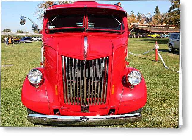 Aaa Greeting Cards - 1948 Ford Cabover Tow Truck 5D26530 Greeting Card by Wingsdomain Art and Photography
