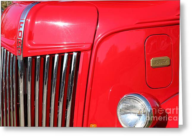 Aaa Greeting Cards - 1948 Ford Cabover Tow Truck 5D26536 Greeting Card by Wingsdomain Art and Photography