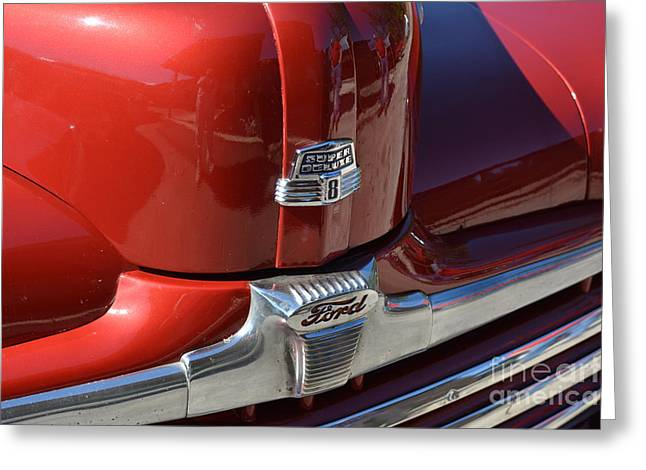 Basement Art Greeting Cards - 1948 Ford Coupe Vintage Car 3 Greeting Card by Barbara Dalton