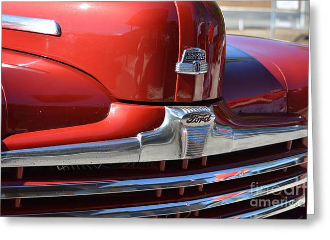 Basement Art Greeting Cards - 1948 Ford Coupe Vintage Car 4 Greeting Card by Barbara Dalton