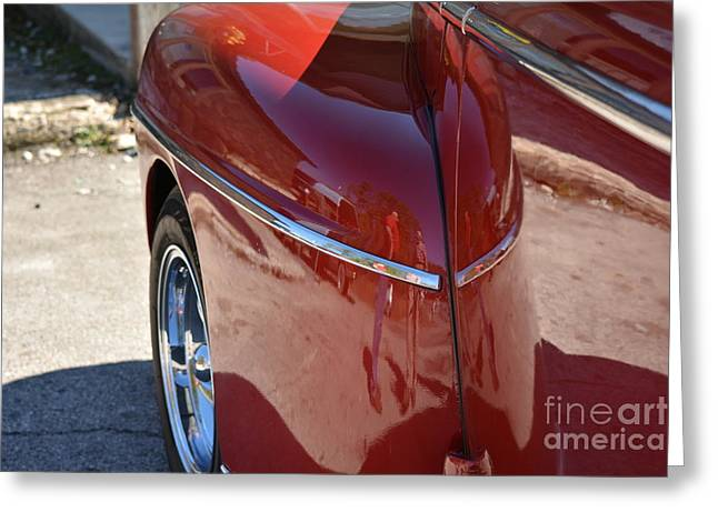 Basement Art Greeting Cards - 1948 Ford Coupe Vintage Car 5 Greeting Card by Barbara Dalton