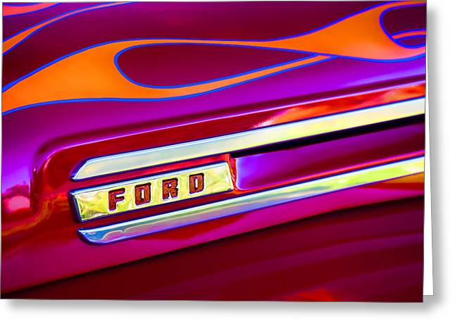 Pick-ups Greeting Cards - 1948 Ford Pickup Greeting Card by Carol Leigh