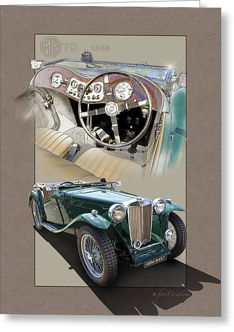 Vintage Mg Greeting Cards - 1948 Mg Tc Greeting Card by Roger Beltz