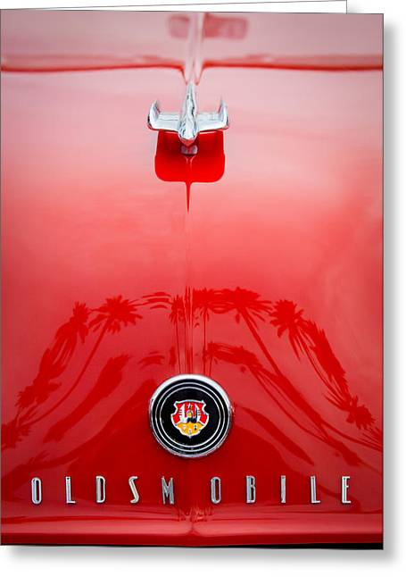 Collector Hood Ornament Greeting Cards - 1948 Oldsmobile Hood Ornament - Emblem Greeting Card by Jill Reger