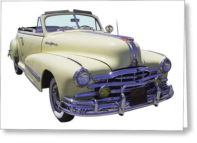 Old Digital Art Greeting Cards - 1948 Pontiac Silver Streak Convertible Greeting Card by Keith Webber Jr