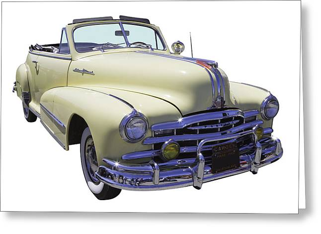 Vintage Hood Ornaments Digital Art Greeting Cards - 1948 Pontiac Silver Streak Convertible Greeting Card by Keith Webber Jr