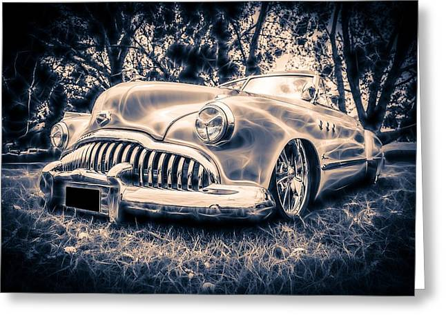Phil Motography Clark Greeting Cards - 1949 Buick Eight Super Greeting Card by motography aka Phil Clark