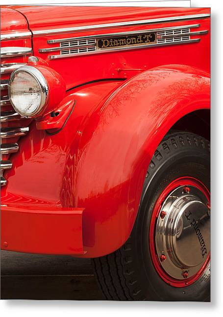 Front End Greeting Cards - 1949 Diamond T Truck Front End Greeting Card by Jill Reger