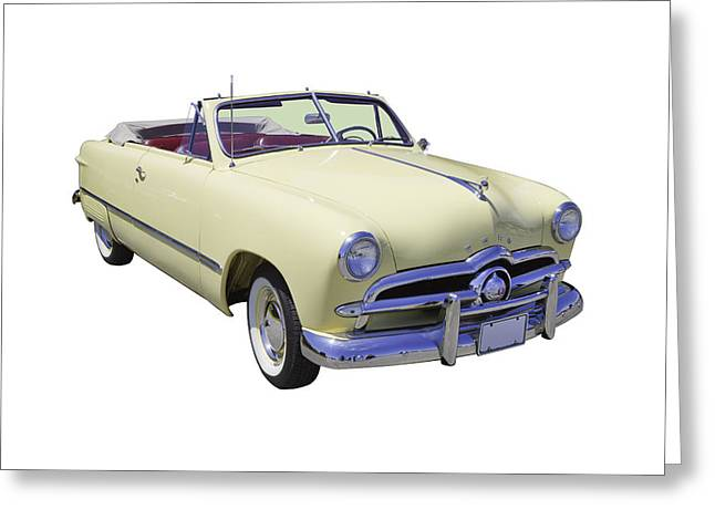 Custom Auto Greeting Cards - 1949 Ford Custom Deluxe Convertible Greeting Card by Keith Webber Jr
