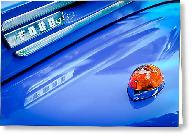 Classic Pickup Greeting Cards - 1949 Ford F-1 Pickup Truck Emblem -0027C Greeting Card by Jill Reger