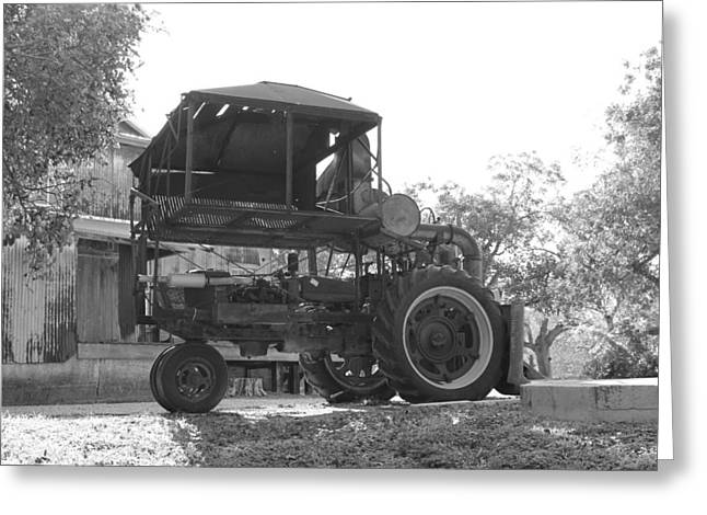 Cotton Pickers Greeting Cards - 1949 Internatiional Harvester 1 Row Cotton Picker Greeting Card by Rod Andress