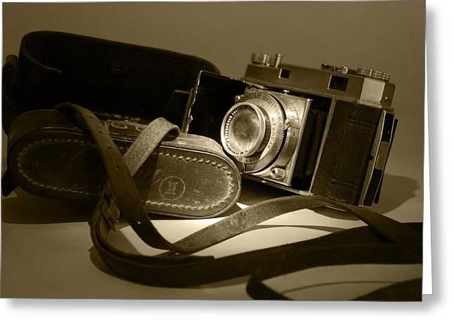 Manual Greeting Cards - 1949 Kodak Retina II Greeting Card by John Turner