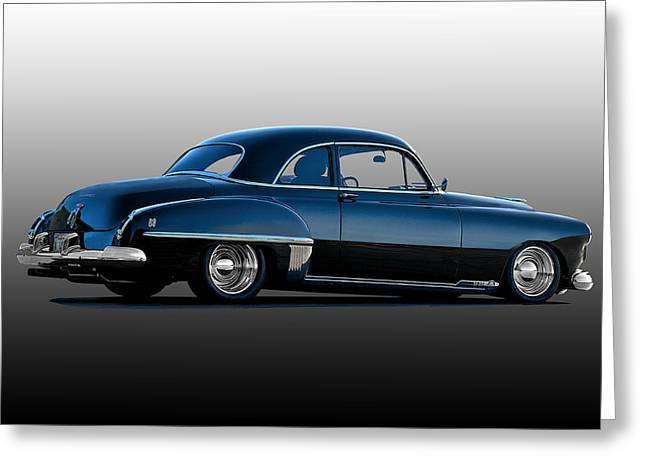 Slam Photographs Greeting Cards - 1949 Oldsmobile Rocket 88 Greeting Card by Dave Koontz