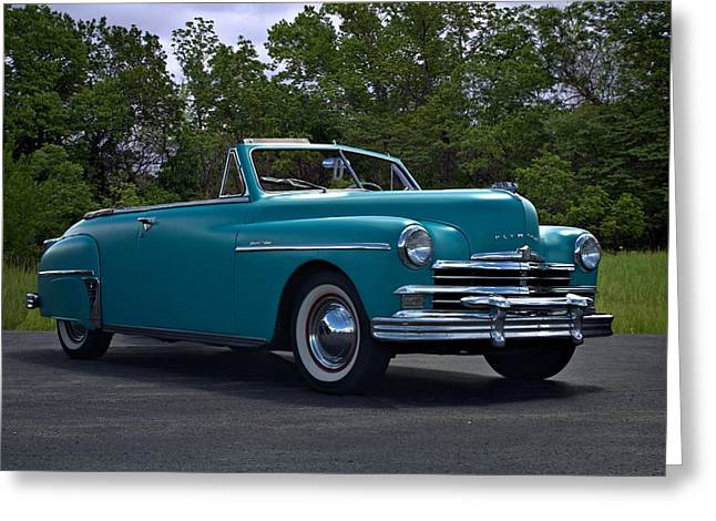 1949 Plymouth Photographs Greeting Cards - 1949 Plymouth Special Deluxe Convertible Greeting Card by Tim McCullough