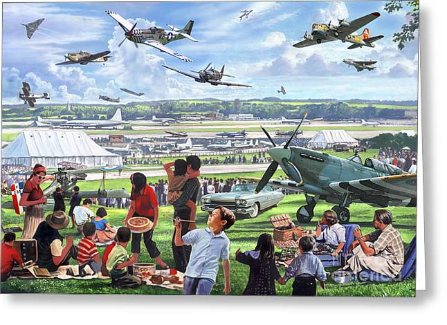 Food Digital Greeting Cards - 1950 Airshow Greeting Card by MGL Meiklejohn Graphics Licensing