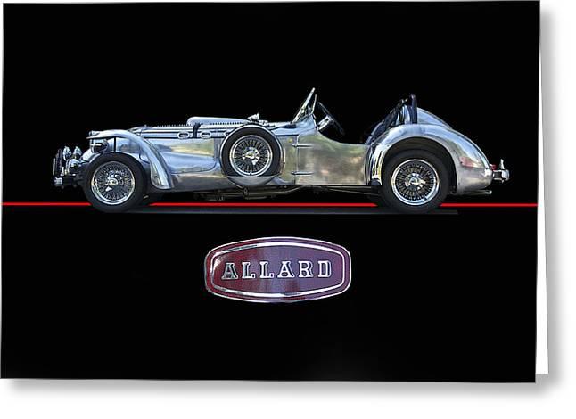 Allard Greeting Cards - 1950 Allard J2-X Roadster Greeting Card by Dave Koontz