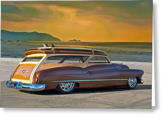 Slam Greeting Cards - 1950 Buick Woody Wagon IV Greeting Card by Dave Koontz