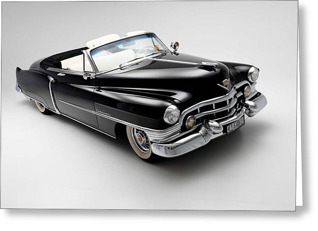 Chrome Greeting Cards - 1950 Cadillac Convertible Greeting Card by Gianfranco Weiss