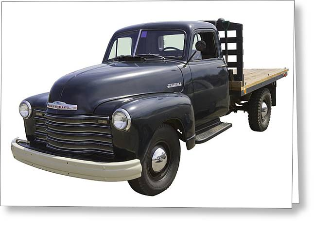 Chevy Pickup Truck Greeting Cards - 1950 Chevrolet Flat Bed Pickup Truck Greeting Card by Keith Webber Jr