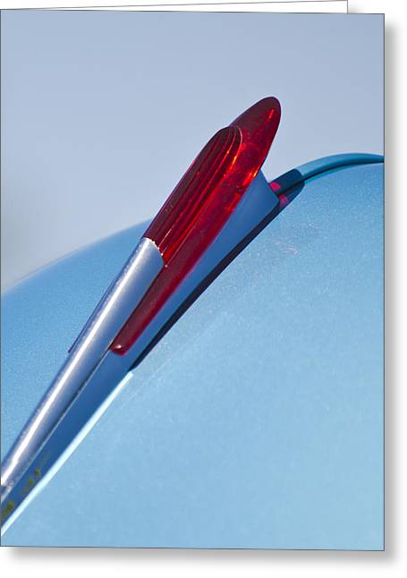 Fifties Greeting Cards - 1950 Chevrolet Hood Ornament Greeting Card by Jill Reger