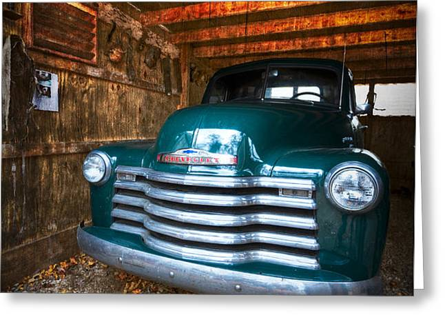 1950 Chevy Truck Greeting Card by Debra and Dave Vanderlaan