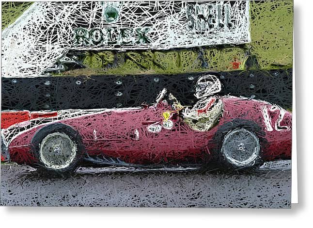 Single Seater Greeting Cards - 1950 Ferrari 166 America 2 Greeting Card by John Colley