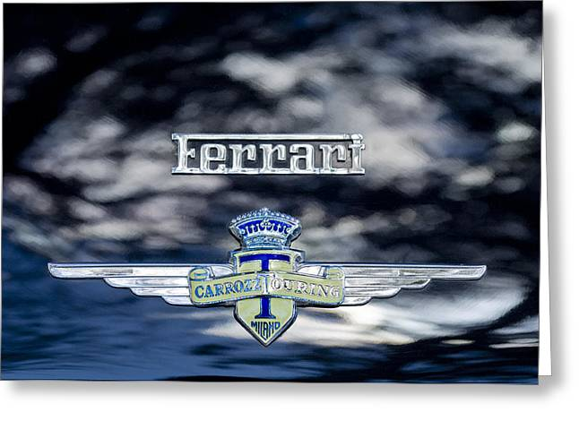 Best Images Photographs Greeting Cards - 1950 Ferrari Emblem Greeting Card by Jill Reger