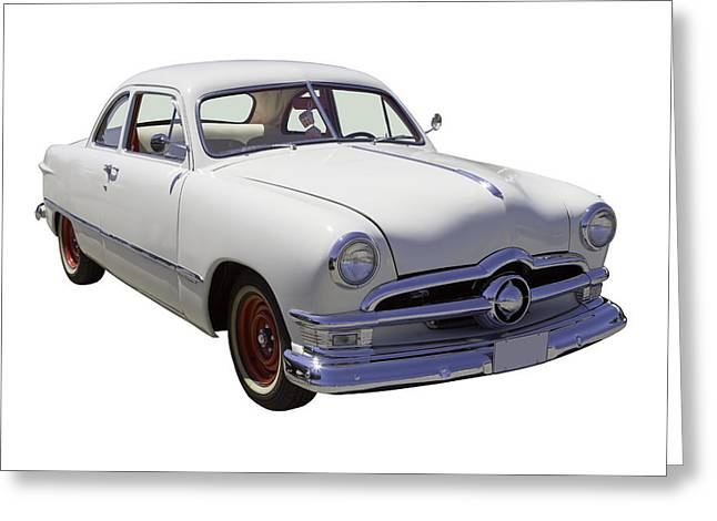 Old Ford Greeting Cards - 1950 Ford Custom Antique Car Greeting Card by Keith Webber Jr