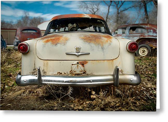 Rusted Cars Greeting Cards - 1950 Ford Sedan Rear Greeting Card by Yo Pedro
