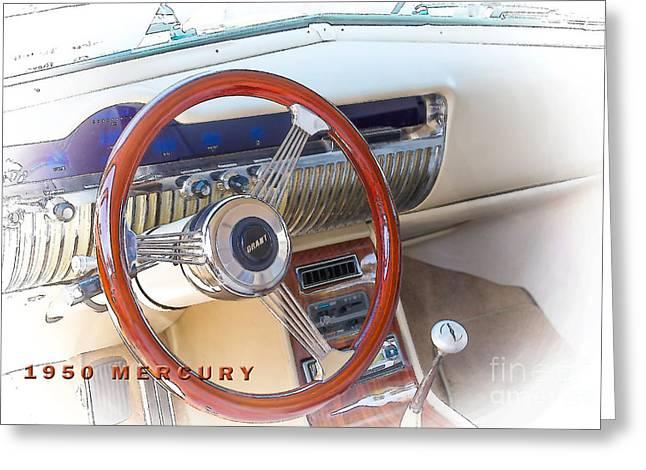 1950 Merc Greeting Cards - 1950 Mercury Dash Greeting Card by Darrell Hutto