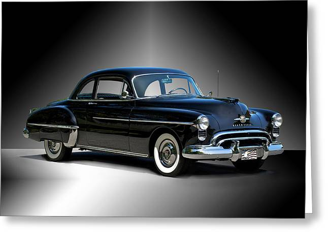 Family Car Greeting Cards - 1950 Oldsmobile 88 Deluxe Club Coupe I Greeting Card by Dave Koontz