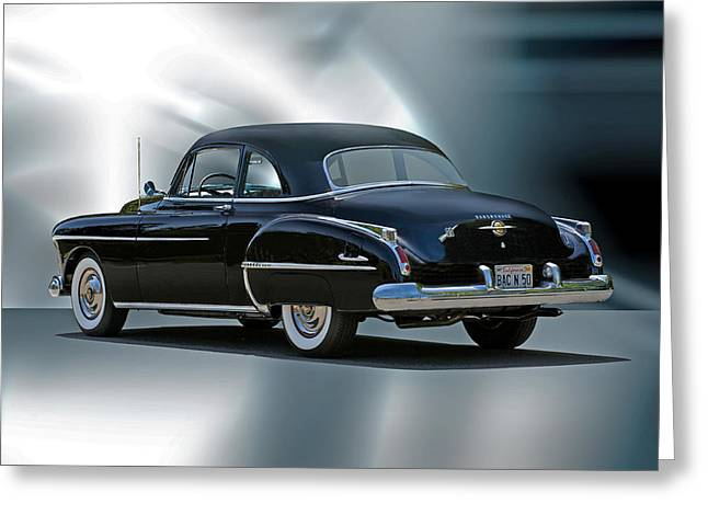 Family Car Greeting Cards - 1950 Oldsmobile 88 Deluxe Club Coupe II Greeting Card by Dave Koontz