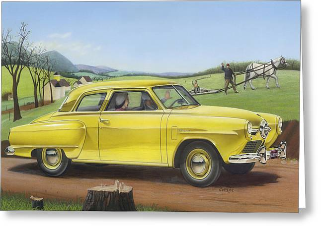 Blank Greeting Cards Greeting Cards - 1950 Studebaker Champion Blank Greeting Card Greeting Card by Walt Curlee