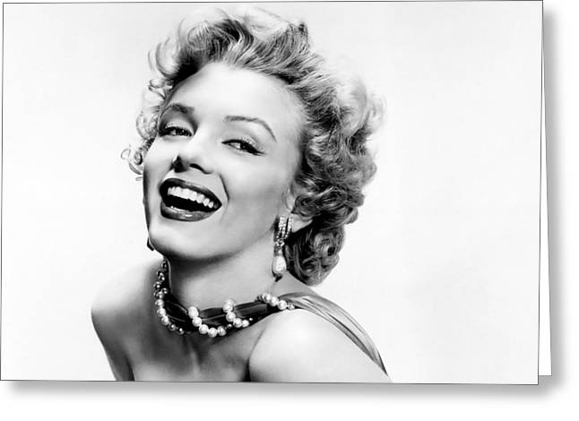 1950s Portraits Greeting Cards - 1950s Marilyn Monroe Greeting Card by Nomad Art And  Design