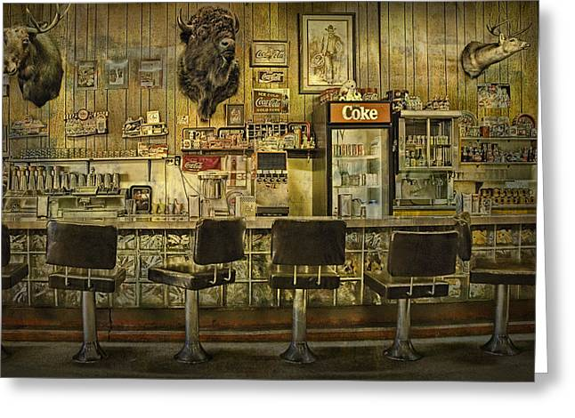 Randy Greeting Cards - 1950s Style Diner in Western Montana Greeting Card by Randall Nyhof