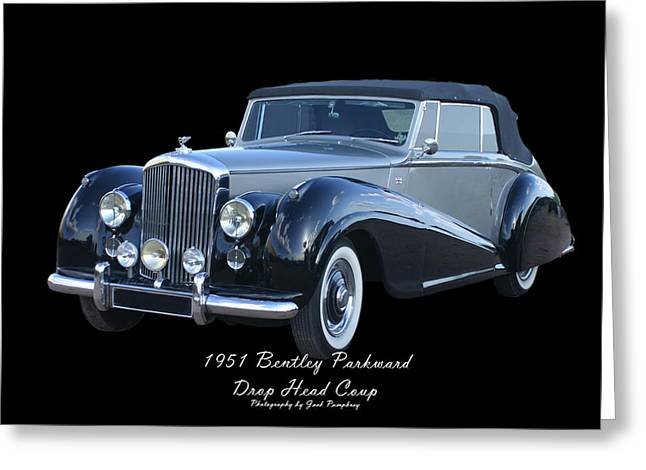 Mechanically Greeting Cards - 1951 Bentley M K  V I Drop Head Coupe Greeting Card by Jack Pumphrey