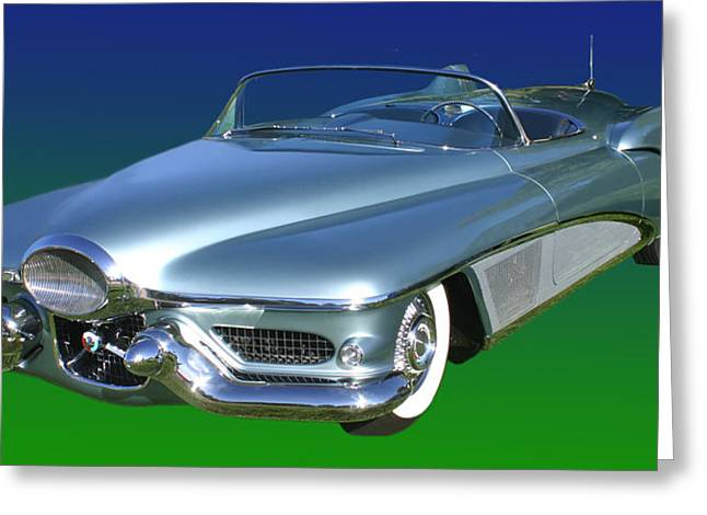 Wrapped Around Greeting Cards - 1951 Buick LeSabre Concept Greeting Card by Jack Pumphrey