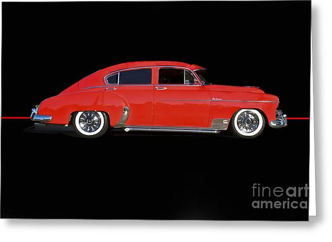 Custom Chevrolet Deluxe Greeting Cards - 1951 Chevrolet Custom Sedanette Greeting Card by Dave Koontz