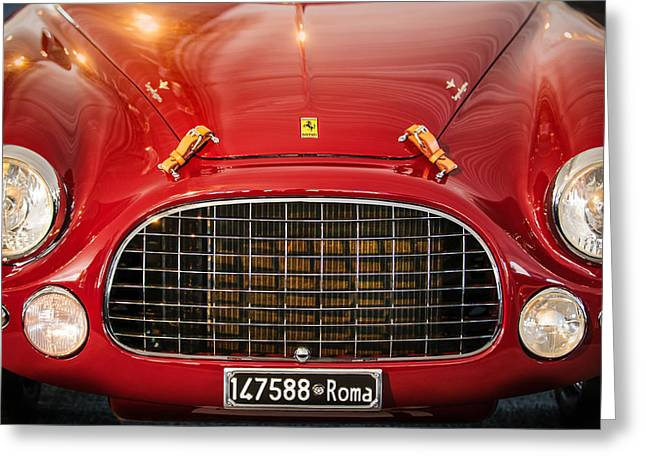1951 Photographs Greeting Cards - 1951 Ferrari 212 Export Berlinetta Greeting Card by Jill Reger