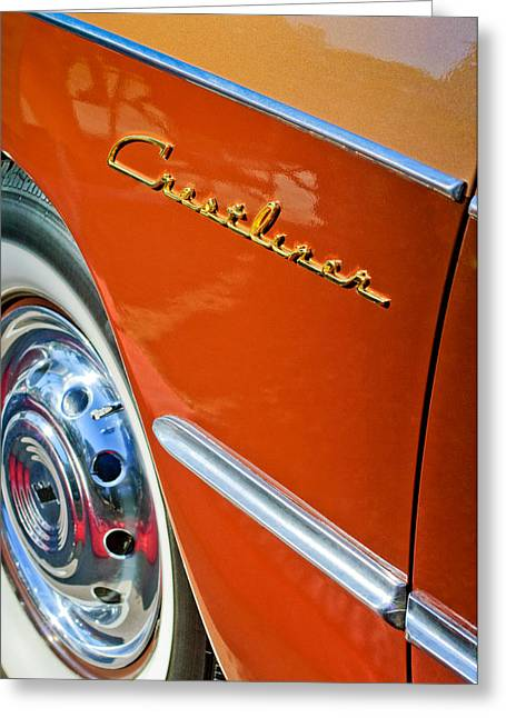 1951 Greeting Cards - 1951 Ford Crestliner Emblem - Wheel Greeting Card by Jill Reger
