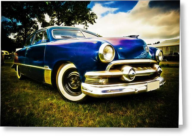 Ford Street Rod Greeting Cards - 1951 Ford Custom Greeting Card by Phil